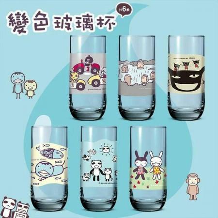 48hr / 全家 阿朗基玩一夏 變色玻璃杯 整套6款 (全新拆封)療癒小物