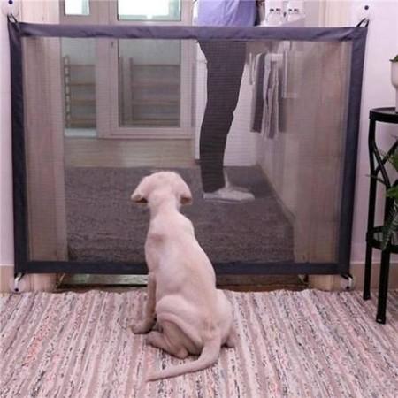 魔法防護網 空間轉換門 狗隔門 防狗門 防狗門簾狗狗隔離網 便攜折疊式寵物隔離欄狗狗