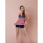 Y2048美國國旗兩件式泳衣