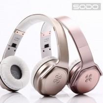 限量十一組 降價出清 / SODO MH3 摺疊式NFC藍牙 頭戴式耳罩耳機 / 喇叭 二合一 多功能藍芽耳機