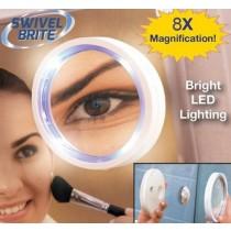 360 度自動旋轉【放大8倍】LED化妝鏡