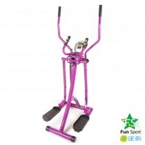 『買一送一』全能美腿漫步機(雙扶手+彈簧阻力)紫色-FunSport