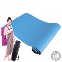 Fun Sport yoga I'm太陽花雙優瑜珈墊-藍天素色版(送束帶+立樂沛背袋)(頂級環保止滑)