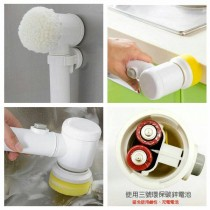 電動強力清潔刷 多功能強力電動清潔刷 5合1浴缸清潔刷 電動多功能家務5合1浴缸清潔刷