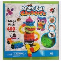 48小時出貨/蓬蓬捏捏球/啟蒙玩具 DIY彩色毛毛魔術球 ( 百變捏捏球)( 魔鬼氈蓬蓬毛球 )