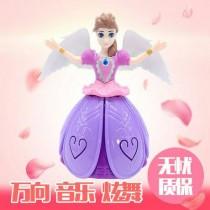 電動天使公主娃娃 旋轉音樂娃娃 扮家家酒 玩具