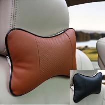 (買十對送一對)48小時快速出貨/ (一對)汽車護頸枕/汽車枕頭/皮革枕頭/紓壓枕頭(棕色)