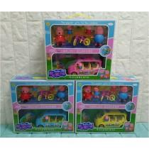 小豬聲光音樂電動玩具車佩佩豬粉紅豬 歡樂玩具兒童玩具過年