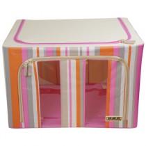 快樂家摺疊收納箱 時尚條紋簡易式摺疊收納箱_80L 收納幫手
