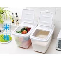 16公斤儲米桶 防蛀帶蓋滑輪創意米桶透明防潮防蟲裝米容器 廚房媽媽幫手