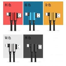 L型雙彎充電線 安卓、蘋果、TAPE-C 接頭傳輸線充電線適用手機編織尼龍傳輸線充電線USB