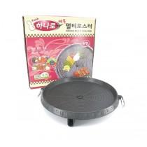 韓國黃金麥飯石烤盤(圓形) 不粘烤肉盤 無煙  卡式爐 戶外野炊 必備中秋烤肉