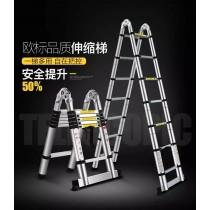 3.8公尺快速收納伸縮梯 鋁梯可變成人字梯或直梯 4種可調式關節 任意調整 最高可達3米8依個人需求 打掃加高的防墜