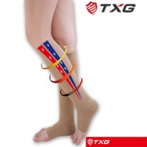 TXG 露趾機能減壓襪-基礎型 膚色