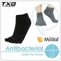 TXG 長效性抗菌除臭短筒五趾襪(3雙入)