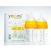 英國 yoomi 240mL 防脹氣奶瓶 8安士奶瓶 兩件組