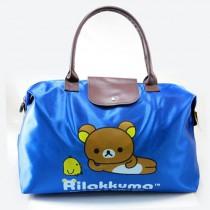 48小時快速出貨/ 拉拉熊Rilakkuma 媽媽包 游泳袋 旅行袋 可折疊收納