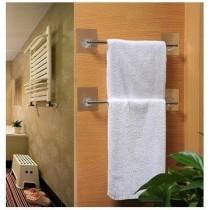[買10送一]無痕不銹鋼單桿毛巾架 強力無痕貼 免釘免鑽 只需輕輕一貼即可使用