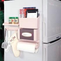 冰箱五件套 紙巾架 調味瓶架 鉤物架 收納架 面紙盒架 五件組 廚房媽媽幫手