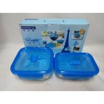 樂美雅二入玻璃保鮮盒 法國【樂美雅】PURE BOX玻璃保鮮盒二入組