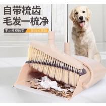 二代旋風掃把 畚箕掃把套裝 家務清潔 家用掃把 打掃用具 可旋轉 帶刮齒 軟毛