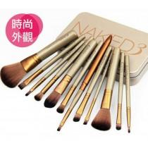 NAKED3 刷具 化妝刷具12件組 彩妝刷具組 新手刷具組 腮紅刷唇刷眼 線刷修容刷