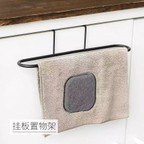 門背式毛巾架 廚房多用途 單桿門背式 毛巾架 無痕 免釘 櫥櫃 抹布 掛架 雜物掛勾