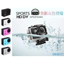 極限運動攝影機 防水記錄器 行車紀錄器【部落客大推】HD1080P 2吋螢幕(自行車、浮潛、滑水衝浪、滑板必備神機,高廣角鏡頭,大螢幕即時預覽拍攝畫面)