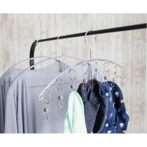 弧形防風曬衣架 附夾不鏽鋼防風衣架 不鏽鋼曬襪架 不鏽鋼曬衣夾