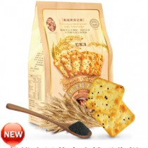 【稑禎】烘焙窯燒手作餅-穀維素黑芝麻 (12包組)