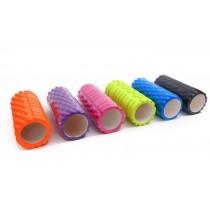 3D立體瑜珈柱.瑜珈枕滾輪瑜珈筒搭配瑜珈墊中空顆粒滾筒按摩狼牙棒EVA空心瑜珈柱
