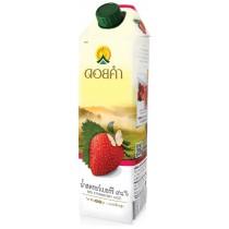 泰國皇家農場 100%純淨鮮果汁 1000ml (草莓) 8瓶組