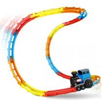 樂趣滾動翻轉小火車 兒童趣味玩樂首選 新款 4色軌道 兒童樂園 扮家家酒 玩具 交換禮物生日禮物