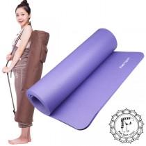 《Fun Sport》愛動派厚瑜珈墊運動墊加大款(10mm) (90魔力紫)NBR材質★送束帶+背袋