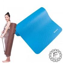《Fun Sport》愛動派厚瑜珈墊運動墊加大款(10mm) (90精彩藍)NBR材質★送束帶+背袋