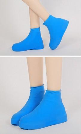 矽膠高筒防雨鞋套 防水防滑鞋套 加厚耐磨矽膠鞋套 雨天戶外便攜鞋套