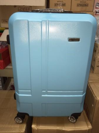 切貨金安德森24吋ABS十字條紋藍四輪行李箱 ABS材質 富韌性耐撞擊 表面一體成形耐刮斜紋 加大伸縮層 貼心多層拉鏈分隔夾層 全方位旋轉 推動不費力 輕量質感佳