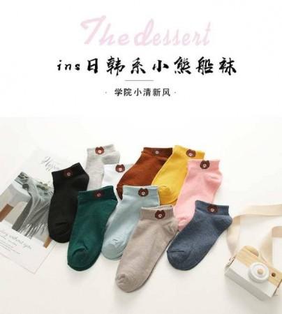 日韓系10色小熊襪子 獨特針織 親膚柔軟面料 舒適透氣性 純手工 精美包裝 自用送禮皆宜