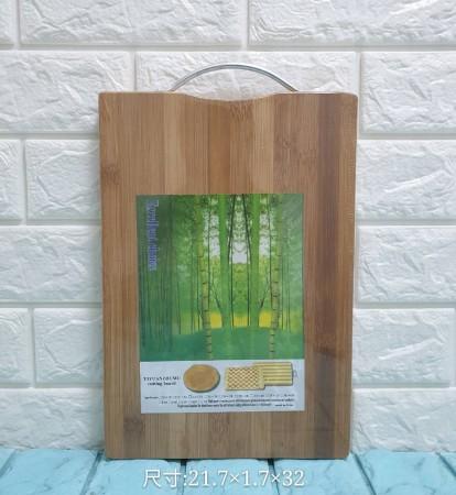 竹製加厚砧板  優質天然毛竹不易裂開 不鏽鋼把手懸掛超牢靠 高強度耐磨防滑材質 耐剁 耐切