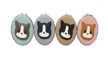 柴犬3倍化妝鏡 隨身鏡 小鏡子 折疊鏡 雙面鏡子 攜帶方便