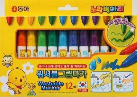 韓國進口 12色 可水洗筆 水洗娃娃專用筆G01