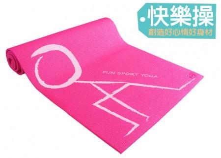 《Fun Sport》快樂操伸展瑜珈墊(桃紅)束帶(PER環保材質)
