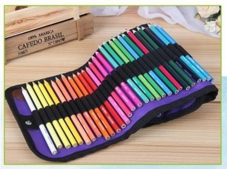 50色彩鉛筆 六角彩色鉛筆 美術美勞兒童上班族療癒