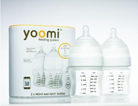 英國 yoomi 140mL 防脹氣奶瓶 5安士奶瓶 兩件組