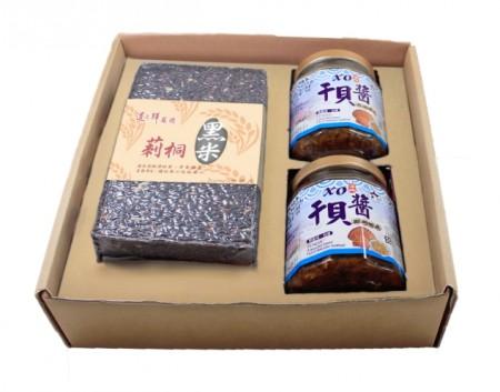 【禮盒】黑米干貝醬禮盒