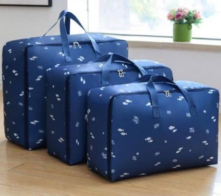 手提收納袋三件套 放衣物整理箱 手提袋 收納包 防水袋 儲物箱
