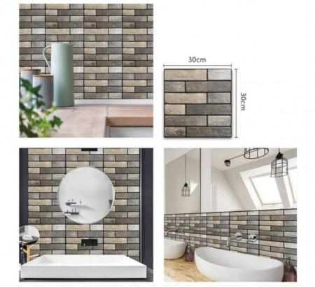 【預購】(*12片一包*)  3D立體磁磚壁貼  立體浮雕凸顯時尚的質感 簡單DIY黏貼於壁面瓷磚上 居家風格 自黏式立體磚紋  好貼不費力