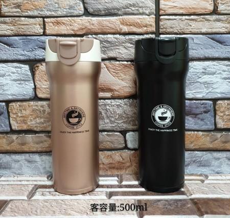 保温咖啡杯 品嚐咖啡好幫手 創意弹跳蓋水杯子 防滲水 易清洗 防燙飲水口