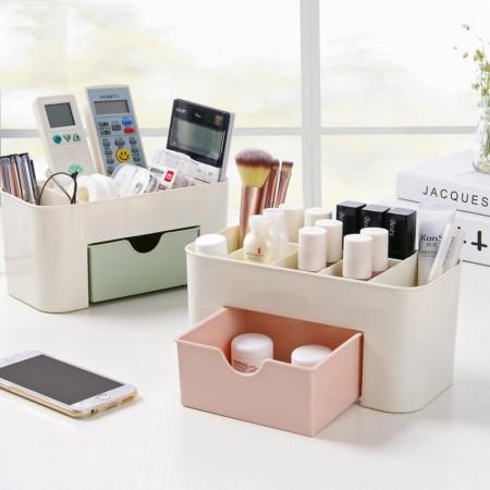 48小時出貨 / 抽屜式桌面收納盒 化妝品收納盒 居家辦公室 不挑色