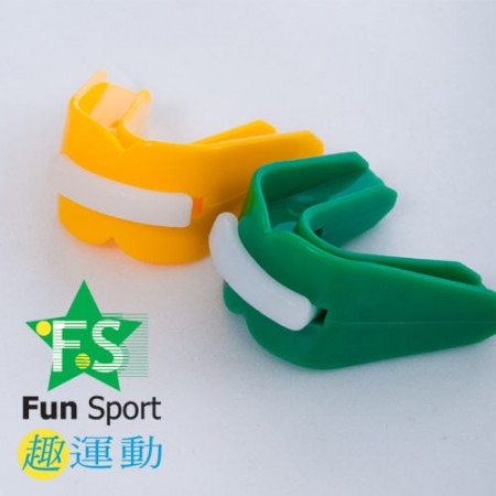 《Fun Sport》武術跆拳-雙層護牙套3個-透明 (附盒)★台灣製★